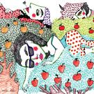 Ladies in Apple Trees Collection on Society6.
