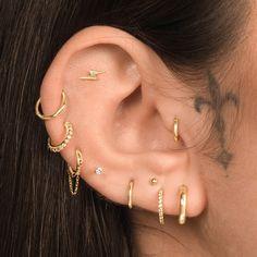 Shop Assolari's 14k lightning bolt flat back earrings. Perfect cartilage piercing stud for ear lobe, flat, tragus ear piercing, and forward helix piercing. Ear Piercing Studs, Pretty Ear Piercings, Cartilage Jewelry, Ear Piercings Tragus, Labret Studs, Ear Jewelry, Flat Piercing, Triple Helix Piercing, Ear Piercings Chart