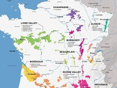 Jumpstart your French wine knowledge with this French Wine Map and an overview of its 11 wine regions - plus a 12th section to highlight up-and-coming areas!