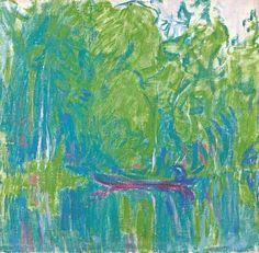 Ellen Thesleff (Finnish, 1869 – A Landscape from Murole, 1912 Oil on canvas, 44 x 47 cm Abstract Digital Art, Abstract Art, Landscape Art, Landscape Paintings, Define Art, Oil Pastel Paintings, Digital Museum, Collaborative Art, Modernism