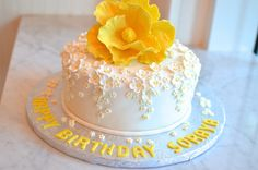 Beautiful Floral Birthday Cake...What Ladies Wouldn't Want to Celebrate with this??!!