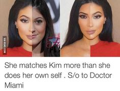 Kylie Jenner looks more like Kim Kardashian than Kylie Jenner. I normally don't care but this is funny. Be yourself ladies ;)