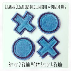 Blue & Denim XO's / Charms Creations