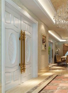 15 Interior Design Ideas of Luxury Living Rooms Classic Interior, Luxury Interior, Style At Home, Door Design, Luxury Living, My Dream Home, Luxury Homes, New Homes, Architecture