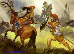 A depiction of a Scythian (Skythian) woman fighting a Greek soldier. Most likely around the ancient Greek colony of Gorgippia (modern day: Anapa).  This is where Book IV of The Amazon Chronicle takes place.