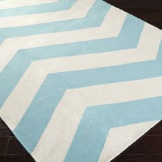Zig Zag Chevron Dhurrie Rug Available in 4 Colors: Aqua and White, Navy Blue and… Aqua Rug, Dhurrie Rugs, Striped Rug, Wool Area Rugs, Wool Rug, White Area Rug, Online Home Decor Stores, Joss And Main