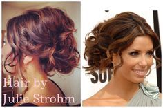 Updo inspired by Eva Longoria's infamous low, textured do. Gorgeous bridesmaid!
