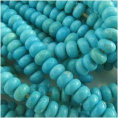 10 Turquoise Sleeping Beauty rondelle AA gemstone beads (N) 4mm