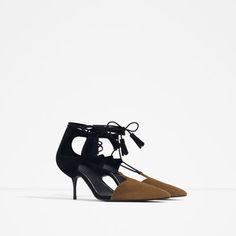 Image 2 of MID-HEEL LACE-UP SHOES from Zara