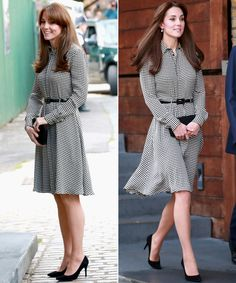 Kate Middleton Is Back and Looks Better Than Ever The Duchess of Cambridge is back! Kate Middleton stepped out for her first appearance in a while, and she looked better than ever. See her look here. Kate Middleton 2016, Looks Kate Middleton, Kate Middleton Dress, Shorts Negros, Librarian Style, Princesa Kate, Estilo Real, Queen Outfit, Royal Clothing