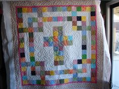 Lavonne's Cross quilt...quilted by Charisma