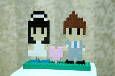 Custom #Lego wedding cake topper for the nerds in us.