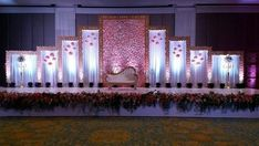 Wedding reception backdrop - Dazzling Events Decor & Caterers Wedding Planners in Jamshedpur ShaadiSaga Wedding Stage Decorations, Reception Stage Decor, Wedding Backdrop Design, Wedding Stage Design, Wedding Reception Backdrop, Marriage Decoration, Tent Decorations, Engagement Decorations, Event Decor
