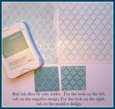 Karen Pedersen: Embossing Techniques and Instructions