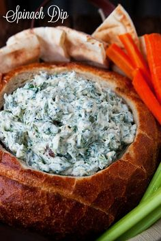 RINT INGREDIENTS 1 package Knorr Vegetable Soup Mix (Dry) 8 oz light sour cream 8 oz plain low fat greek yogurt (or you can use all sour cream) 1 cup light mayonnaise ½ tsp garlic powder 1 small box frozen chopped spinach, thawed and drained 2 TBSP chopped onion (optional) 1 large round bread loaf (optional) INSTRUCTIONS Mix all ingredients (not the bread) together and refrigerate for at least 2 hours. Overnight is best so all the flavors can blend. Hollow out your bread bowl. If you want a…