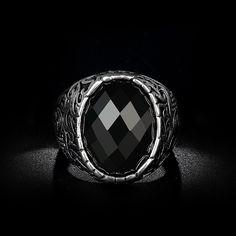 Homme Bijoux Acier Inoxydable Argent Guerrier Casque Spartan Ring Knight Band 8