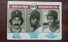 Trading Card : Pittsburgh Pirates 1979 Prospects BERRA COTES WILTBANK Topps #723…