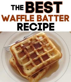 Waffle Batter Recipe {With Secret Ingredient} - Thrifty Nifty Mommy - The best homemade waffles recipe! This waffle batter recipe includes a secret ingredient that sets - Savory Waffles, Homemade Waffles, Pancakes And Waffles, Delicious Breakfast Recipes, Savory Breakfast, Brunch Recipes, Breakfast Ideas, Delicious Food, Dessert Recipes