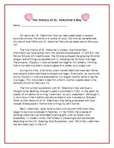 second grade reading comprehension worksheet holiday stories valentines day grade 2. Black Bedroom Furniture Sets. Home Design Ideas