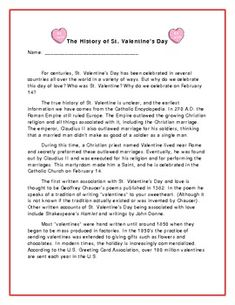 history of st valentine's day essay