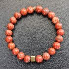 Red Jasper Bracelet, Gemstone Bracelet, Healing Crystal Bracelet, Unisex Bracelet, Beaded Bracelet, Yoga Bracelet Mala Jewelry