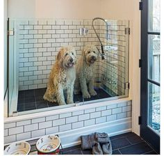 This stunning laundry room features white cabinets and a very mudroom wash station the best plan when building a new house for anyone who has or plans on having big dogs dream space this dog wash will be in the solutioingenieria Image collections