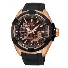 Seiko Velatura Kinetic Mens Watch - Rose Gold Tone *** Read more reviews of the product by visiting the link on the image.