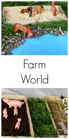 Simple Small Worlds:  Farm World from Fun at Home with Kids