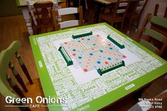 Diy, upcylced Scrabble table top