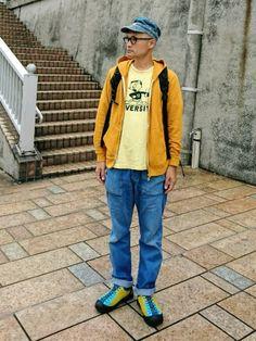 こんばんは。 昨日の格好ですが、WEARHOUSE のTシャツに San by TRIPLE のジ