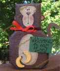 Porch Pal  Monkey  Workshop description: Make a whimsical Porch Pal Monkey. An adorable monkey made from a concrete patio paver . Porch Pals are easy-to-paint characters who enjoy making themselves right at home on your porch, around your yard and, if you let them, inside your house. Painted with acrylic paints, they are inexpensive projects with a lot of charm. No prior painting experience needed!