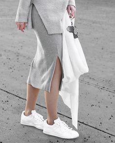 Skirt & Scarf: Zara / Shoes: Adidas Originals / Sunnies: Stella McCartney | IG: @hauteatheart