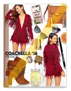 """Coachella Fringe"" by thestrawberryfields ❤ liked on Polyvore featuring ASOS, Aquazzura, Marc Jacobs, Casetify, Chloé, Fendi, Niquesa and Lord & Taylor"