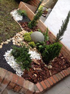 Jardín seco exterior