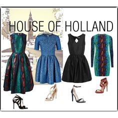 House of Holland by roxanna-kingston on Polyvore featuring House of Holland, Chelsea Paris, BCBGMAXAZRIA and Sole Society