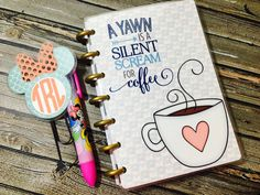 Coffee Lover Happy Planner Cover  Happy by LittlePixiePaperie