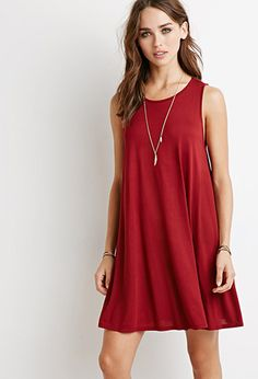 I COULD DO ALL 5 OF THESE COLORS TOO, $12.90  Heathered Trapeze Dress | Forever 21 - 2000134197
