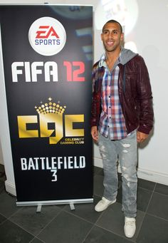 Anton Ferdinand was among those in attendance at Celebrity Gaming Club's FIFA 12 Launch Party Battlefield 3, Launch Party, Attendance, Ferdinand, Anton, Fifa, Gaming, Company Logo, Product Launch