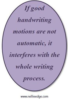 """See summary of """"Research: Why Handwriting is Important"""" from """"Kindergarten-Friendly Handwriting, Phonics, and Word Work"""" by Nellie Edge."""