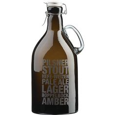 Typographic #Beer Growler