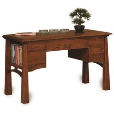 Amish Artesa Library Table ($1,114) ❤ liked on Polyvore featuring home, furniture, tables, accent tables, amish furniture, knot table, amish tables, hardware furniture and drawer table
