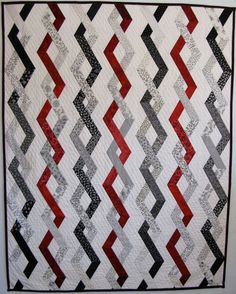 exciting black & white quilts | ... black/white combo for every other vertical row. Heres my first