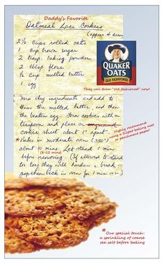 Our Mama's Oatmeal Lace Cookie Recipe