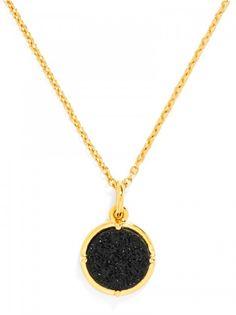 Midnight Druzy Charm Pendant Necklace | BaubleBar