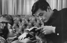 Alain Delon and Romy Shneider