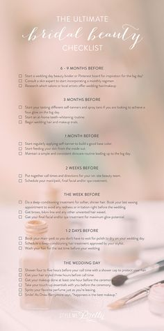 The Ultimate Bridal Beauty Checklist: Photography: Elizabeth Fogarty - elizabethfogartyphotography.com