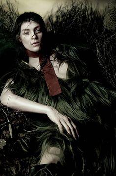 Kati Nescher + Prada photographed by Sølve Sundsbø for Vogue Italia, November 2014 ('Like A Painting').