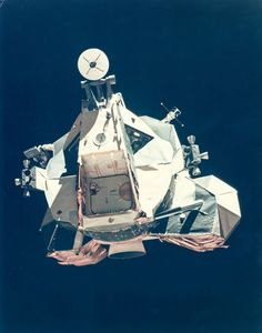 The ascent stage of the Lunar Module returning from the Moon, Apollo 17, December 1972