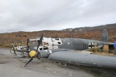 HE 111 crashed in Norway, Looks amazing considering how long its been out there