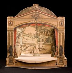 19th Century French opera house model and scenery.